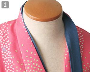 茶羽織�衿の配色使い
