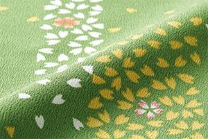 モンブランの桜吹雪柄ちりめんプリント画像