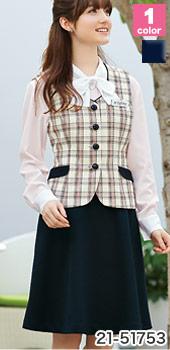 EN JOIE(アンジョア)の事務服 ツイード調ニットのフレアスカート 21-51753