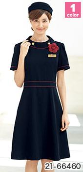 EN JOIE(アンジョア)事務服 おすすめのオフィス制服向けの春夏ワンピース 21-66460