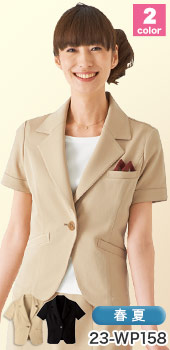 HANECTONE(ハネクトーン)事務服 吸汗速乾で快適、半袖ジャケット 23-wp158
