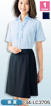 スカートに見えてアクティブ、BONMAX(ボンマックス)のキュロット 事務服34-  LC3705