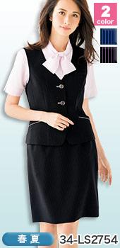 楽なのにスラリ縦長効果、BONMAX(ボンマックス)のタイトスカート 事務服34-  LS2754