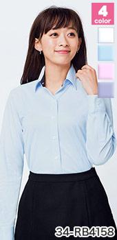 BONMAX(ボンマックス)の事務服 シャツ型長袖ニットブラウス 34-rb4158