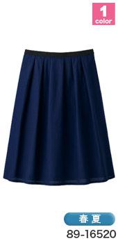 上品な透け感、SELERY(セロリー)の事務服 タックスカート89-16520(16521)