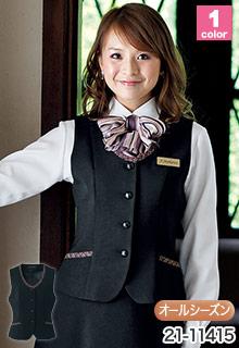 EN JOIE(アンジョア)の事務服 ツイード使いが華やかなベスト 21-11415