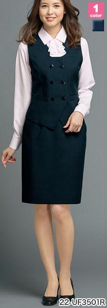 ALPHAPIER(アルファピア)の事務服 脇ゴムのタイトスカート 22-uf3501r