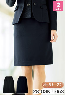 GROW(グロウ)の事務服 3�伸びるウエストでラクなタイトスカート 28-gskl1653