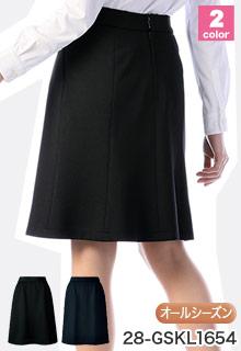 GROW(グロウ)の事務服 3�伸びるウエストでラクな後ろマーメイドスカート 28-gskl1654