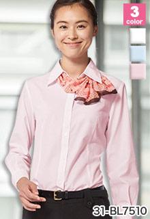 arbe(チトセ)の事務服 ダイヤ柄がリッチな人気の長袖ブラウス 31-bl7510