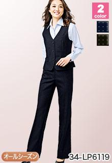 BONMAX(ボンマックス)の事務服 パステルカラーのドット柄パンツ 34-lp6119