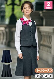 ラメボーダーAラインスカート SELERY(セロリー)の事務服 89-16601