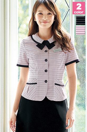 快適素材と柔らかなピンク系が人気、EN JOIE(アンジョア)オーバーブラウス 事務服21-26500