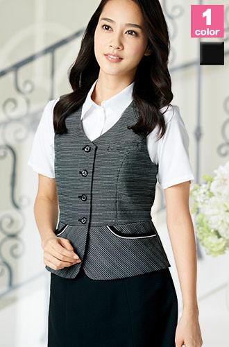 涼しいのに高級感のある織り柄、ALPHAPIER(アルファピア)の事務服ベスト22-AR2887