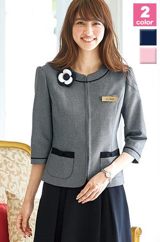 EN JOIE(アンジョア)の事務服 ラメ入りツイードの華やかなジャケット 21-86520