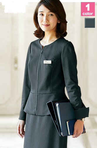 ALPHAPIER(アルファピア)の事務服 高通気で快適なノーカラー・ジャケット 22-yt4307