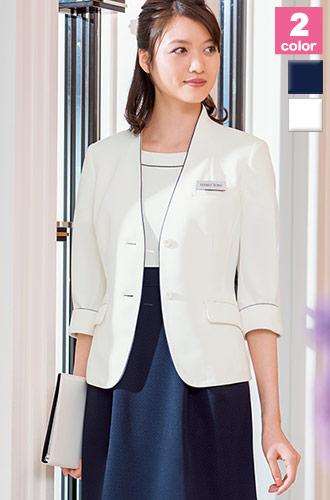 HANECTONE(ハネクトーン)の事務服 白×ネイビーのジャケット 23-wp165