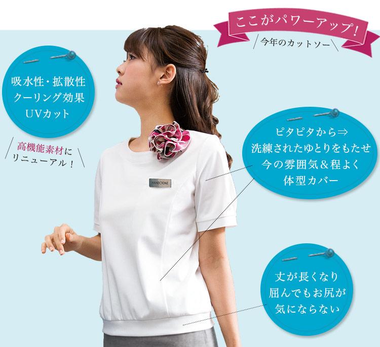 吸水性にUVカット等、機能やシルエットが進化したクルーネックTシャツ(23-WP327) メイン画像2