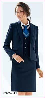 医療系から事務まで爽やかなチェック柄ベスト SELERY(セロリー)制服89-24811