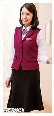ホテル・冠婚葬祭・ブライダルにもおすすめのニット素材ベスト HANECTONE(ハネクトーン)制服23-9760
