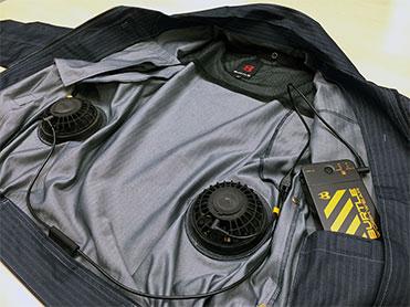 バートルのエアークラフト(空調服)のファンとバッテリーの繋ぎ方