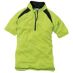 ドライな着心地で涼しく働ける半袖ジップポロシャツ。TS DESIGN3015
