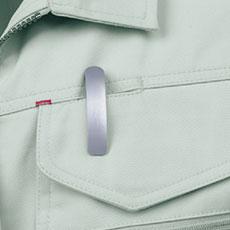ペン差し付きフラップポケット(左胸)