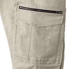 右ポケットはファスナー付きで安心して収納できます。