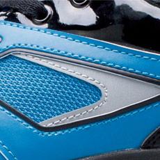 ジーベック安全靴 85405 側面の反射材