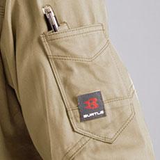 袖ダブルペンポケット(左)