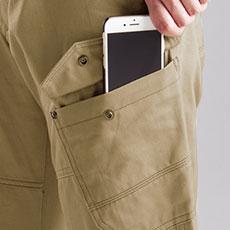 スマートフォン収納ポケット(左)
