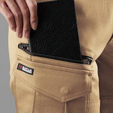 長財布・野帳(レベルブック)収納ポケット(右・深さ23.0cm)