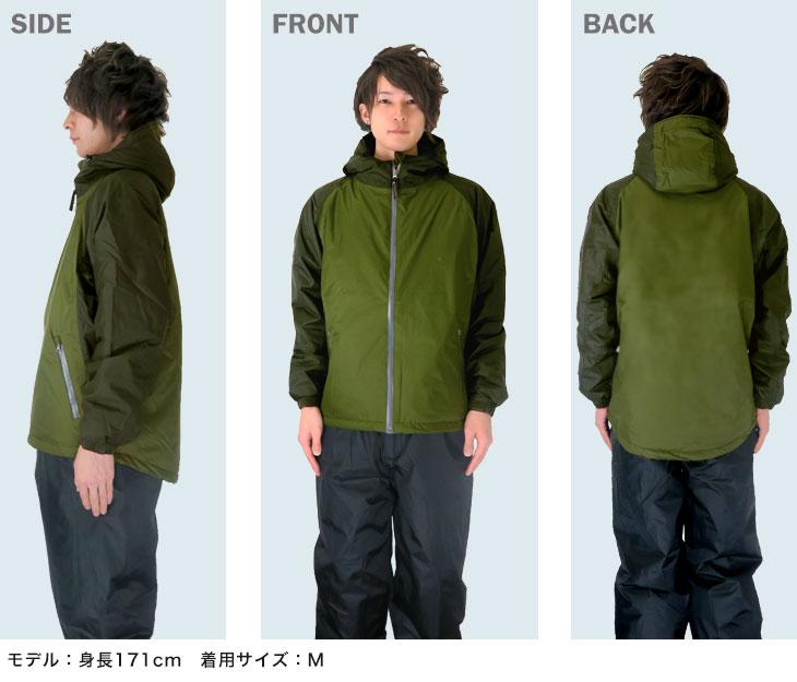 マック 3720 防水防寒ジャケット モデル着用画像