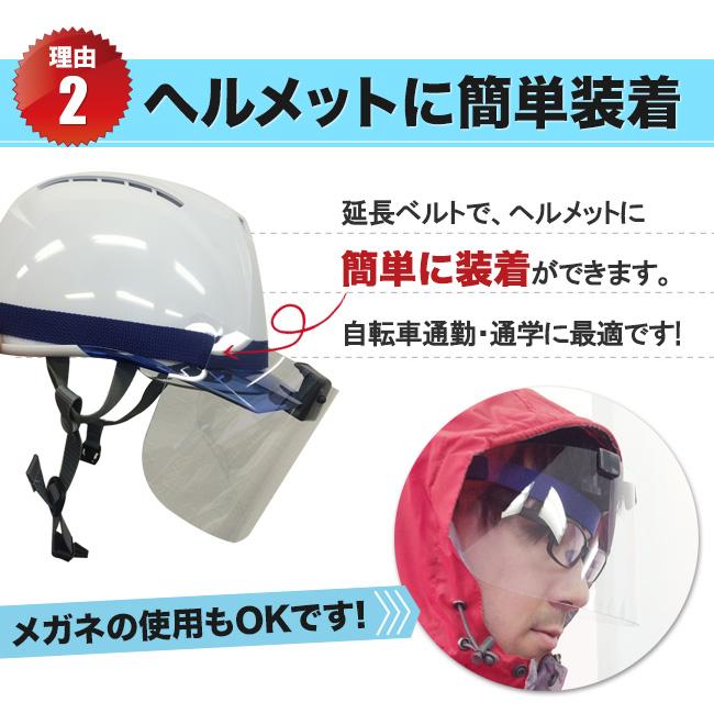 ヘルメットに装着可能
