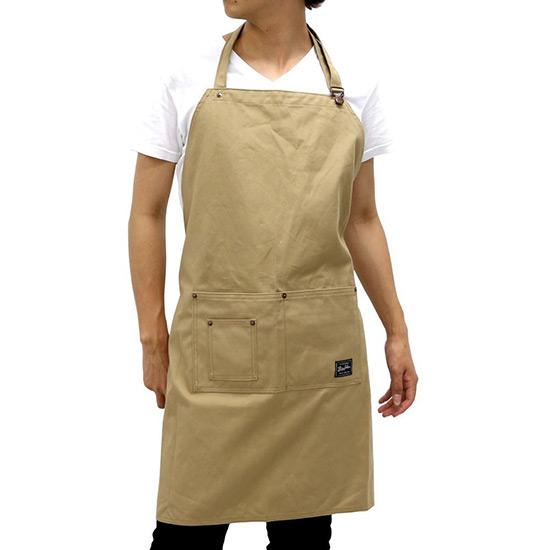 BIG JOHN(ビッグジョン) エプロン 帆布 胸当て カラーエプロン