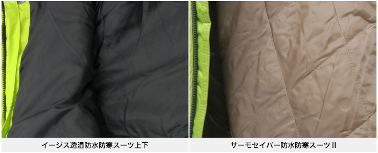 サーモセイバー防水防寒スーツⅡ【キルティング加工】