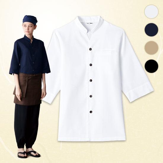 七分袖和風シャツ[男女兼用](31-AS8204)