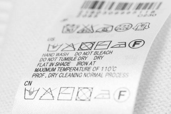 介護ポロシャツ 洗濯タグのイメージ画像