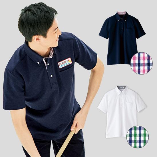 ポロシャツチェック[男性用](34-FB5023M)