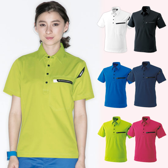 TS DESIGNESワークニットショートポロシャツ(08-81355)