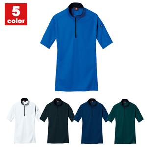 バートル ドライメッシュ半袖ジップシャツ 03-415