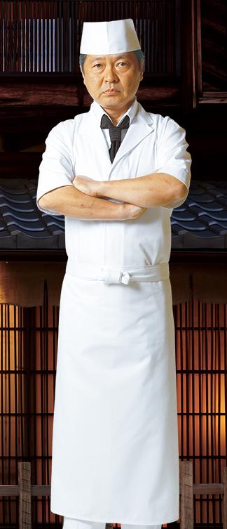 涼しい料理人の近又白衣スタイル