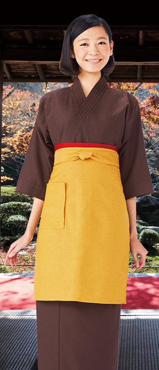 涼しい着物風作務衣スタイル