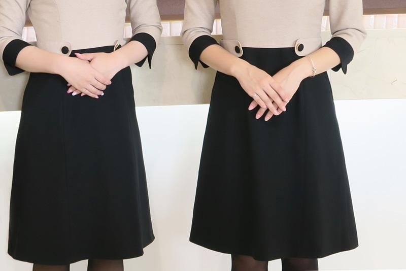 冬服フレアがキレイなスカート