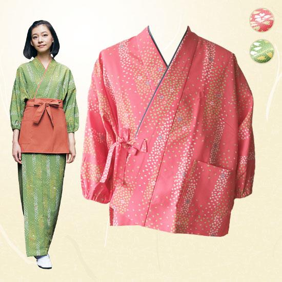 茶羽織着物/桜吹雪柄[女性用](71-3-371)