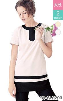 31-CL0203 おしゃれなcalala(キャララ)チュニック白衣