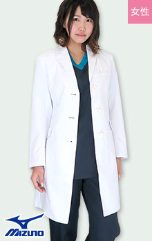 31-MZ0023 ミズノ(Mizuno)のレディースドクターコート白衣