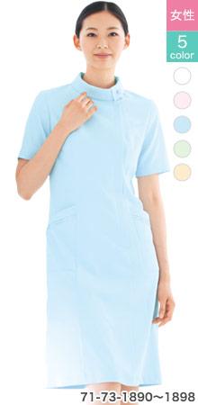 透け防止・吸汗速乾で快適な着心地のモンブランのワンピース白衣