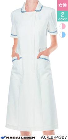 上品でおしゃれなリバティプリントのワンピース白衣