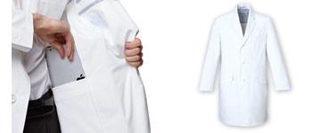 ミズノ(mizuno)男性用ドクターコート白衣 31-MZ0025